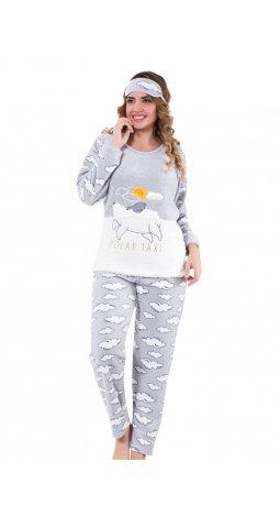 P-4460  PELUŞ Bayan pijama