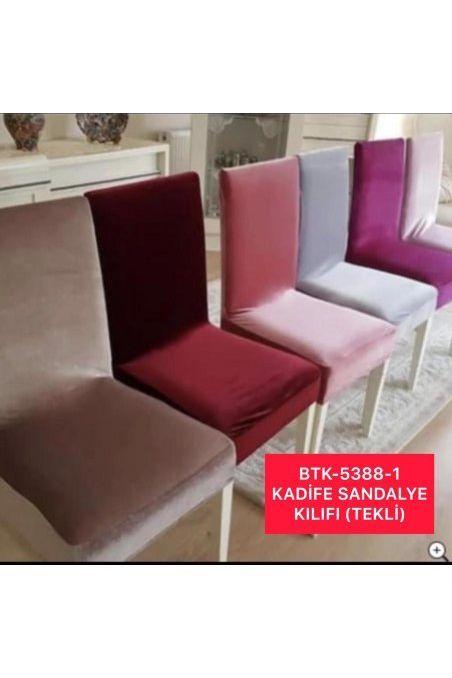 BTK-5388-1 kadife SANDALYE KILIFI (tekli)